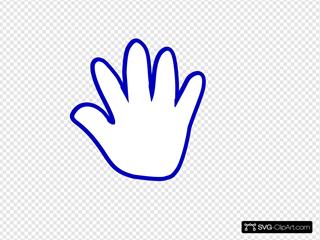 Blue Cartoon Hand