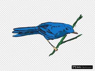 Blue Bird On A Stem