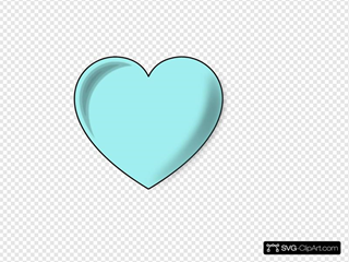Light Blue Heart Clip art, Icon and SVG - SVG Clipart