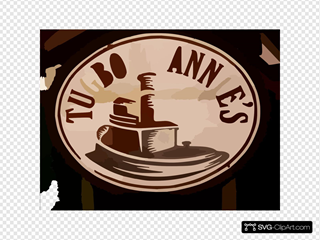 Tugboat Annies Sign 2 Vector