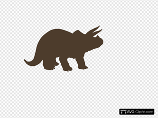 Brown Triceratops
