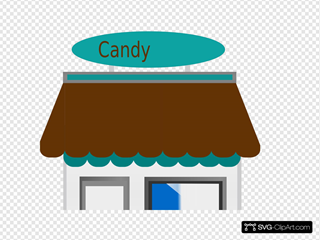 Candy Shop Front SVG Clipart