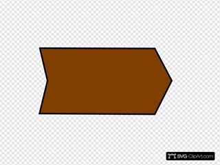 Arrow With An B Brown