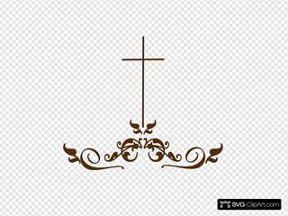 Swirl Medium Brown Cross