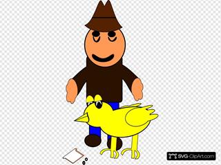 Farmer With Duck