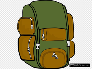 Backpack Green Brown