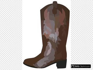 Adult Brown Cowboy Boots Reverse