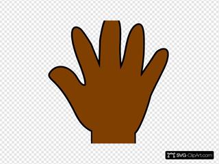 Brown Hand Print
