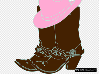 Cowgirl Boots And Pink Cowgirl Hat