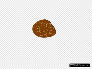 Brown Stone SVG Clipart
