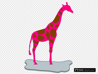 Giraffe Pink Brown