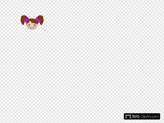 Girl And Bows SVG Clipart