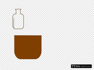 Brown Flask Beaker