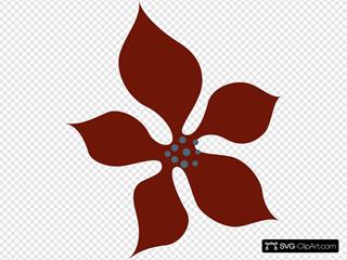 Brown Fun Styled Flower