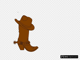 Cowboy  Hat And Boot