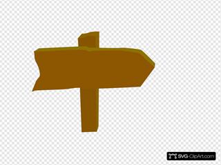 Wooden Brown Arrow
