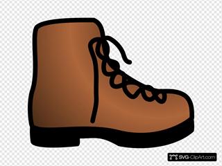 Simple Brown Boot