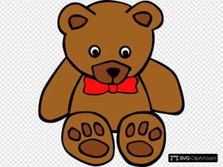 Simple Teddy Bear With Bow