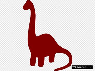 Long Necked Dinosaur Silhouette