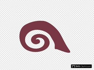 Spiral Snail Reddish-brown