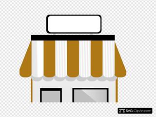 Shop Front Without Title SVG Clipart