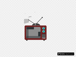 Tv Brown Clipart