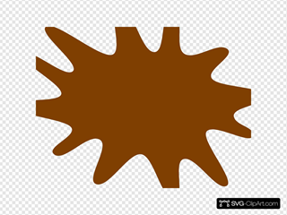 Brown Paint Splat