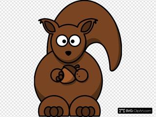 Carton Squirrel -- Thicker Lines