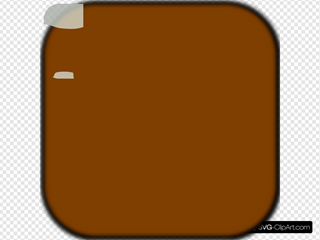 Brown Locked Square Button