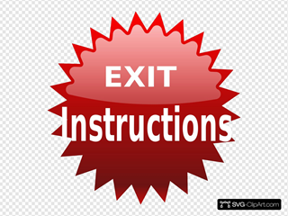 Red Exit Button