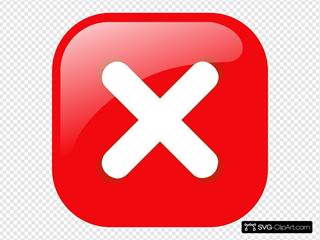 Square Error Warning Button