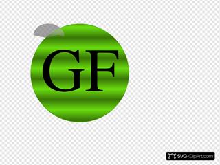 Gluten Free Button SVG Clipart