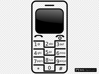 Cell Phone Svg Vector Cell Phone Clip Art Svg Clipart