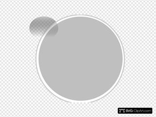 Glossy Grey Light Button
