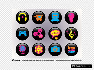 Freevector Icons Buttons