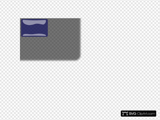 Dark Blue Glossy Rectangle Button Clipart