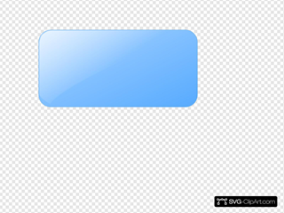 Blank Light Blue  Button