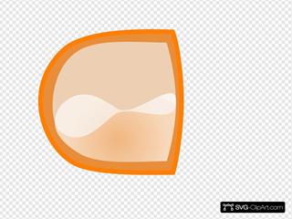 Orange Empty Button