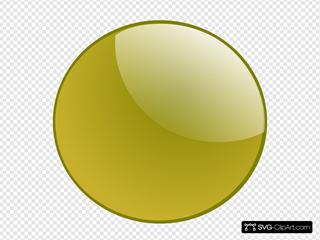 Gold Circle Button