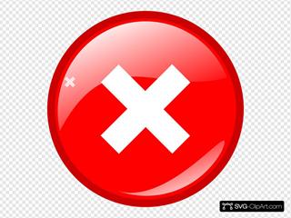 Red Round Error Warning Icon