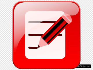 Red Edit Icon Glossy