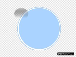 Glossy Blue Light Button