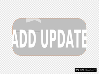 Gray Add Update Rectangle Button