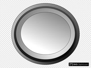 White Circle Button