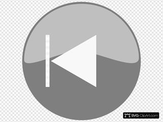 Windows Media Player Skip Back Button Grey SVG Clipart