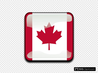 Glossy Canadian Flag Icon
