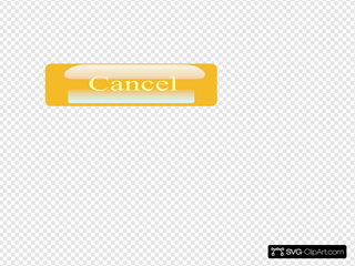 Pill Button Cancel SVG Clipart