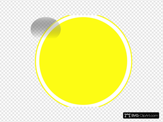 Glossy Yellow Icon Button