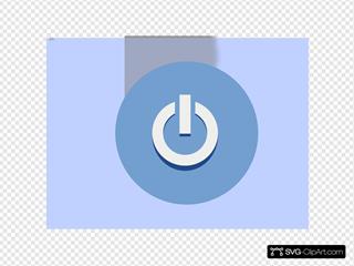 Blue Exit Button