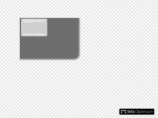 White Glossy Rectangle Button